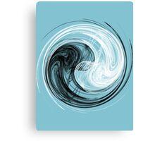 Yin Yang Abstract Canvas Print