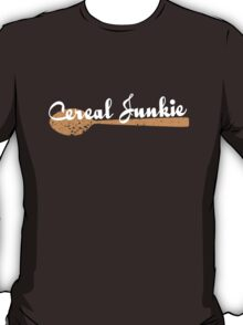 Cereal Junkie - White Text T-Shirt