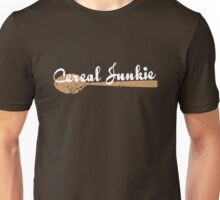 Cereal Junkie - White Text Unisex T-Shirt