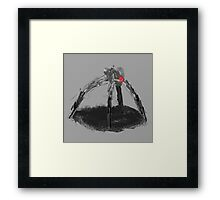 Spider Sketch Framed Print