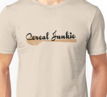Cereal Junkie - Black Text Unisex T-Shirt