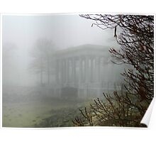 Plymouth Rock Portico in the Fog Poster