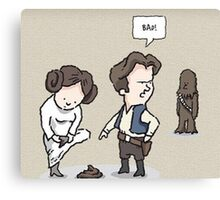Bad Chewy Canvas Print