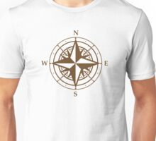 Compass beige map Unisex T-Shirt