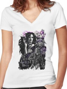 The Witcher - The Last Wish Women's Fitted V-Neck T-Shirt