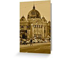 Flinders Street Rush Hour Greeting Card