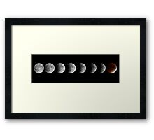 Lunar eclipse and Blood moon Framed Print