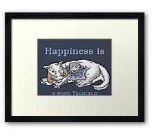 Happiness is like a warm tauntaun Framed Print