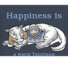 Happiness is like a warm tauntaun Photographic Print