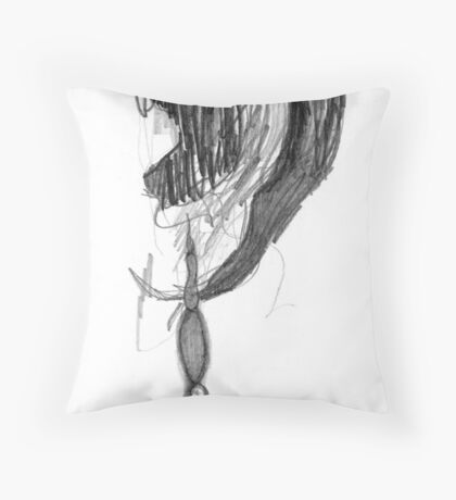 Ear Laces Throw Pillow