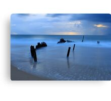 Shipwreck Sunrise 4 Canvas Print