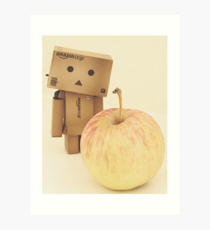 Danbo - a apple a day keeps the doctor away Art Print