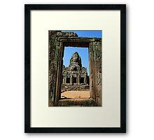 Khmer Window Framed Print