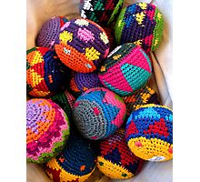 """Knitted Hackey-Sack Balls"" Photographic Print"