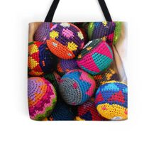 """Knitted Hackey-Sack Balls"" Tote Bag"