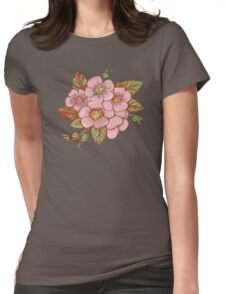 Rosa canina Womens Fitted T-Shirt