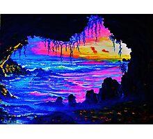 Misty cave Sunset Photographic Print
