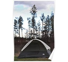 Tent Camping Poster