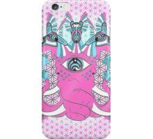 Bass nectar Pink Elephant and Hummingbirds iPhone Case/Skin