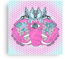 Bass nectar Pink Elephant and Hummingbirds Canvas Print