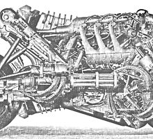 Terminator Salvation motoecycle in pencil draw by maranoun