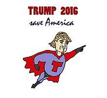 Funny Donald Trump Super Hero Photographic Print