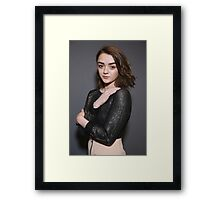 Maisie Williams Grey Framed Print