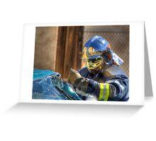 Sapeur et Pompier Greeting Card