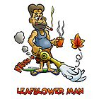 LEAF BLOWER MAN by NHR CARTOONS .