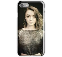Maisie Williams Black iPhone Case/Skin