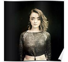 Maisie Williams Black Poster