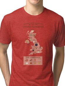 Regional Fried Breakfasts of the United Kingdom Tri-blend T-Shirt