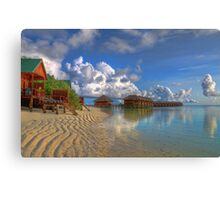 Meerufenfushi island Morning View Canvas Print