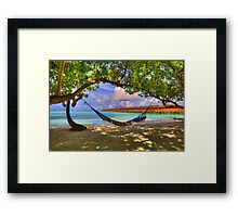 Tropical Paradise Hammock Framed Print