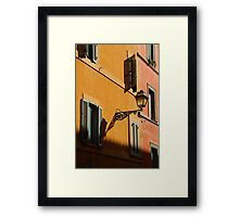 Street Light - Rome Framed Print