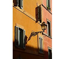 Street Light - Rome Photographic Print