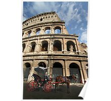 Horse and Carriage - Rome Poster