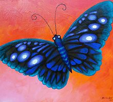 Blue Butterfly by Brita Lee