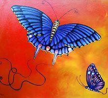 Purple Butterflies by Brita Lee
