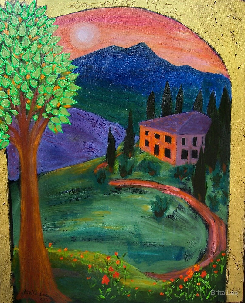 La Dolce Vita - an old mansion in Tuscany by Brita Lee