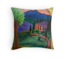 La Dolce Vita - an old mansion in Tuscany Throw Pillow