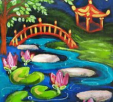 Waterlilies by Moonlight by Brita Lee