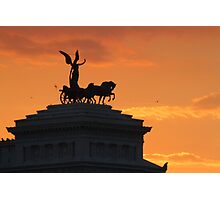 Sunset over Il Vittoriano Photographic Print