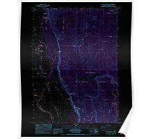 USGS Topo Map Oregon Fort Klamath 279927 1985 24000 Inverted Poster