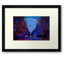 The London Eye - Dawn Light. Framed Print