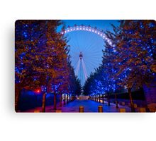 The London Eye - Dawn Light. Canvas Print