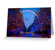 The London Eye - Dawn Light. Greeting Card