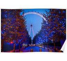 The London Eye - Dawn Light. Poster
