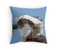 Osprey portrait Throw Pillow