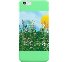 A Perfect Day - Flower Garden in the Sun iPhone Case/Skin